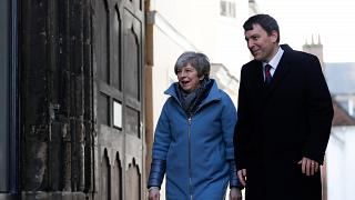 Britain's Prime Minister Theresa May in Salisbury on March 4, 2019.