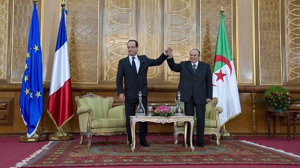 Les présidents français et algérien à Tlemcen (Algérie), le 20/12/2012