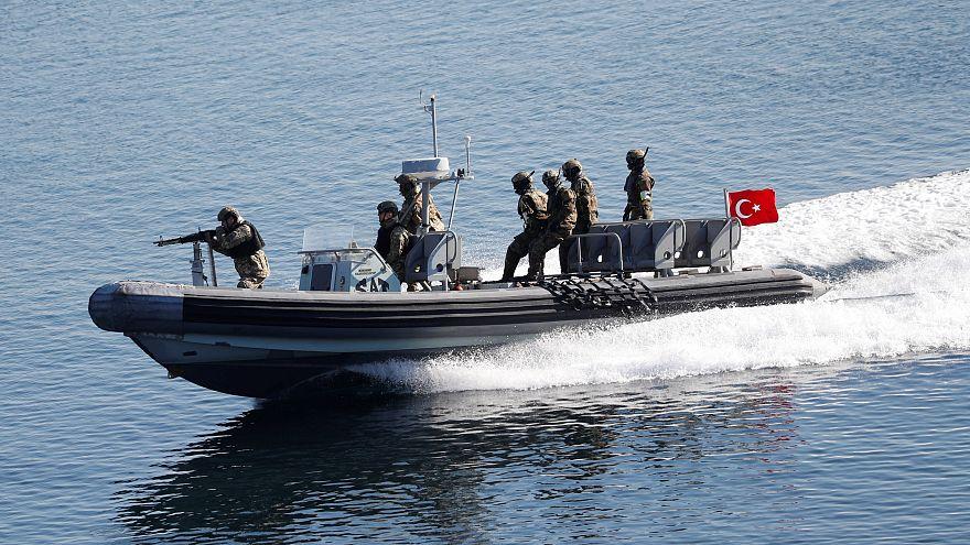 """Από την άσκηση """"Γαλάζια Πατρίδα"""" των τουρκικών ενόπλων δυνάμεων"""
