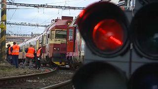 Vasúti baleset Csehországban