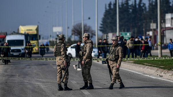 نیروهای ترکیه در مرز با سوریه