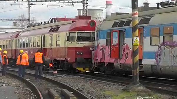 В Чехии столкнулись поезда