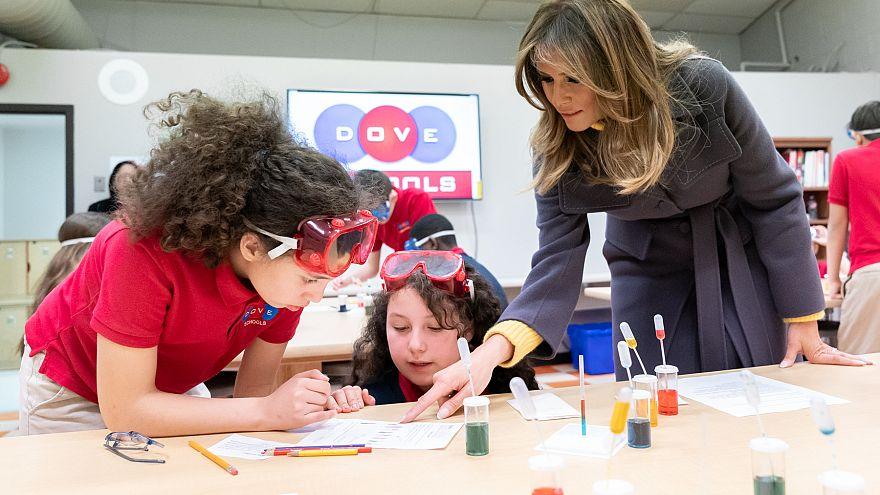 ABD First Lady'si Melania Trump Gülen Cemaati okulunu ziyaret etti
