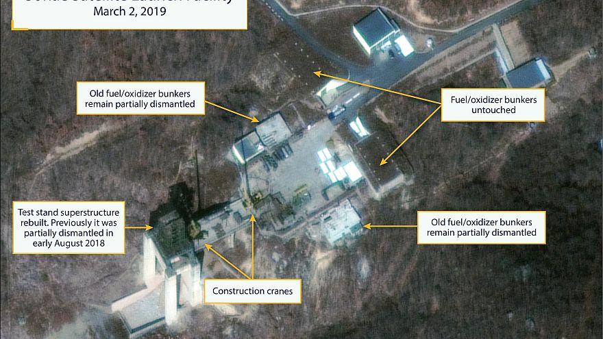 Piongyang reconstruye una base de misiles