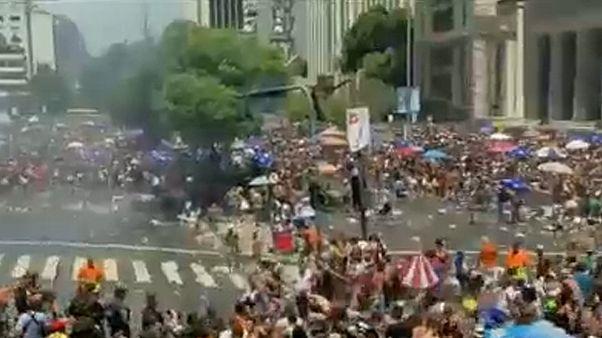 Confrontos durante Carnaval no Rio de Janeiro