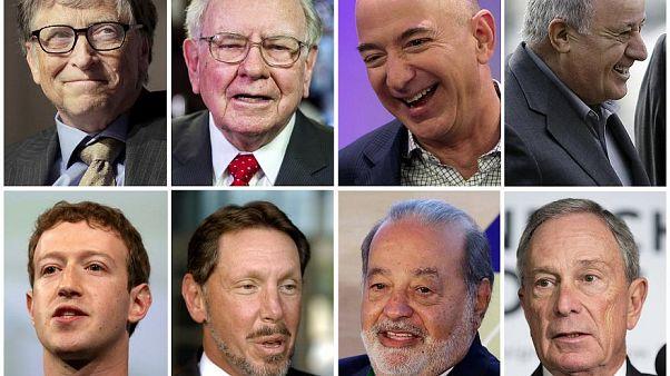 Los rostros de los hombres más ricos del mundo, según la lista Forbes