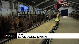Ο cowboy με τα roller blades στα βόρεια της Ισπανίας