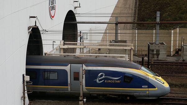 Un Eurostar près de Calais, France, Mars 2019