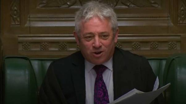 John Bercow struggles to get order in the House of Commons