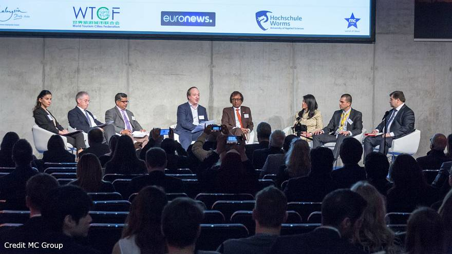 A roundtable discussion at the tourism ITB convention in Berlin