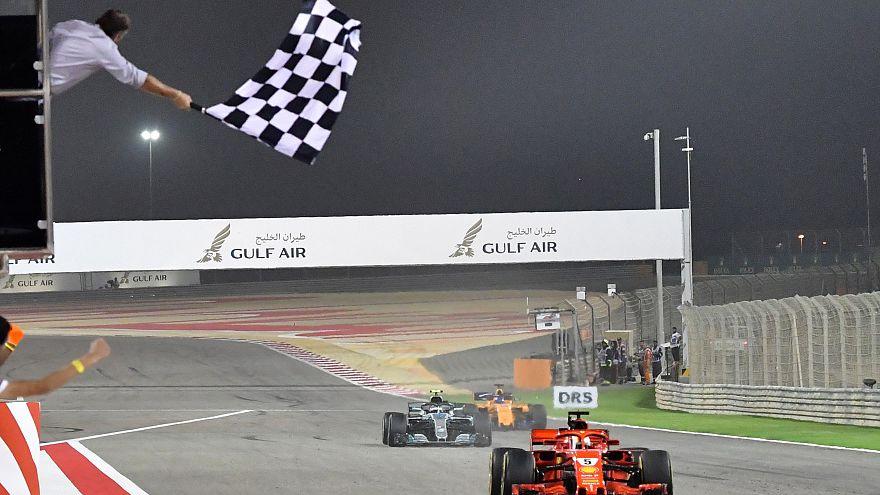 Sebastian Vettel  wins last year's Bahrain GP