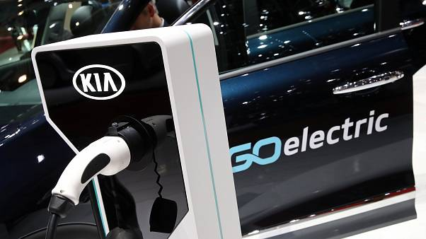 A charging plug for an electric car in Geneva