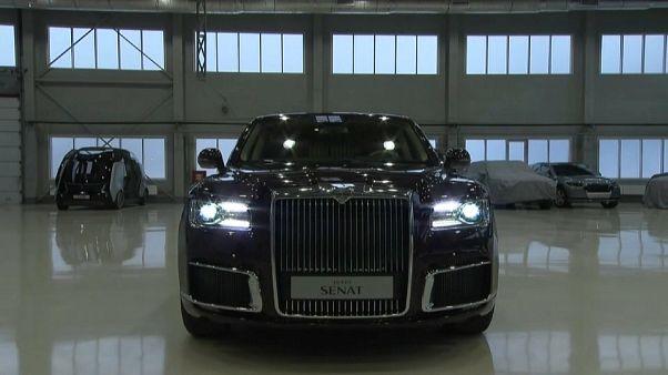 Putin için üretilen Rus yapımı lüks araç Aurus Senat Cenevre Otomobil Fuarı'nda görücüye çıktı
