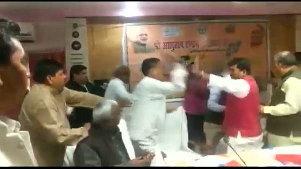"Indian politicians get off on wrong foot in ""shoe brawl"""