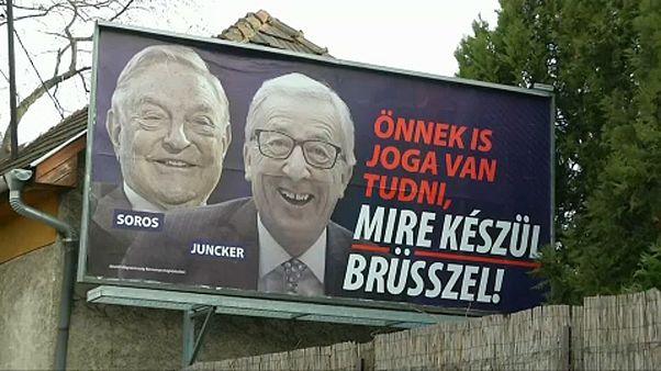 Ungarn hängt umstrittene Juncker-Poster wieder ab