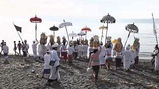 Auf der indonesischen Insel Bali wird der Tag der Stille gefeiert