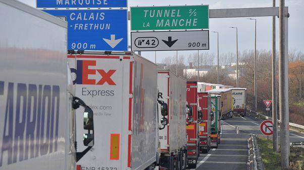 A proximité de Calais, le 4 mars 2019