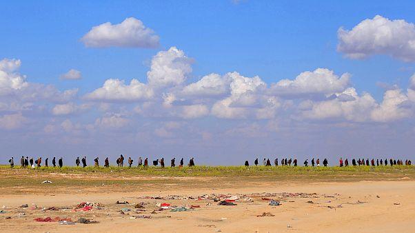 فيديو: استمرار نزوح المدنيين من الباغوز آخر معاقل داعش في سوريا