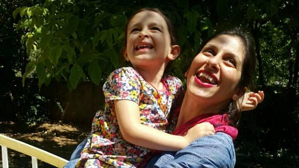 Nazanin with her daughter Gabriella during a temporary release from prison
