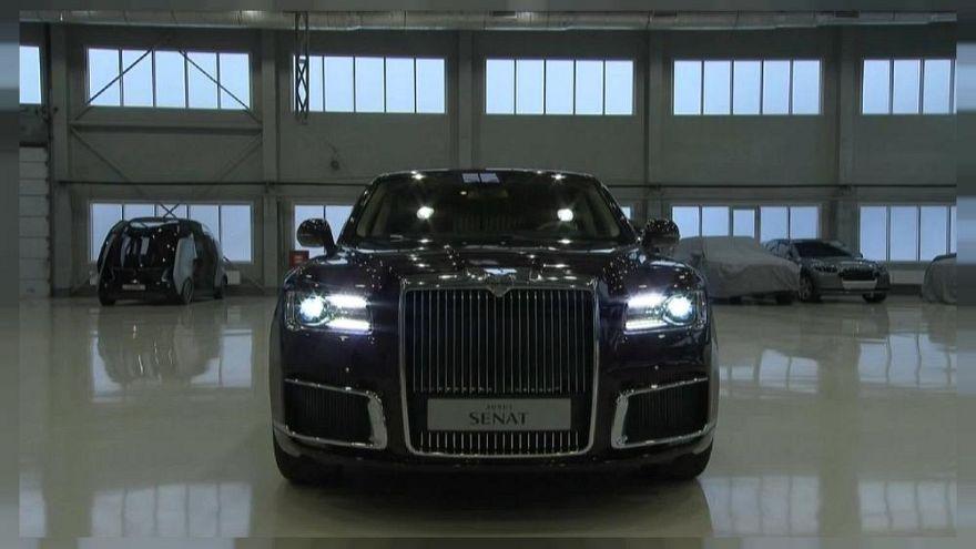 Bemutatkozott a Genfi Autószalonon Putyin limuzinja