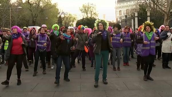 International Women's Day protest in Madrid