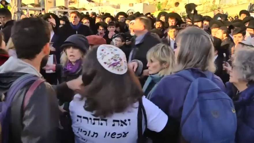 Ultra-Orthdox Jews try to block women's rally in Jerusalem