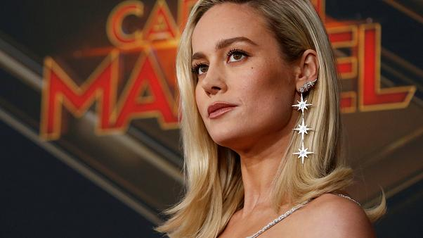 "Brie Larson at the L.A premiere for  ""Captain Marvel"" on March 4, 2019"