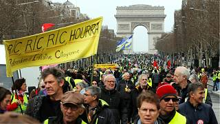 Yellow vests protest for 17th consecutive week as Macron's 'grand debate' reaches its final weeks