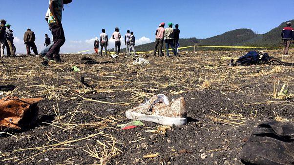 بقایای هواپیمای سقوط کرده خطوط هوایی اتیوپی