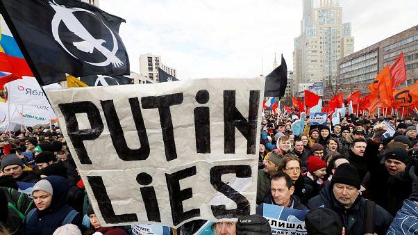 """Protestas contra la """"Ley de Censura"""" de Internet en Rusia"""