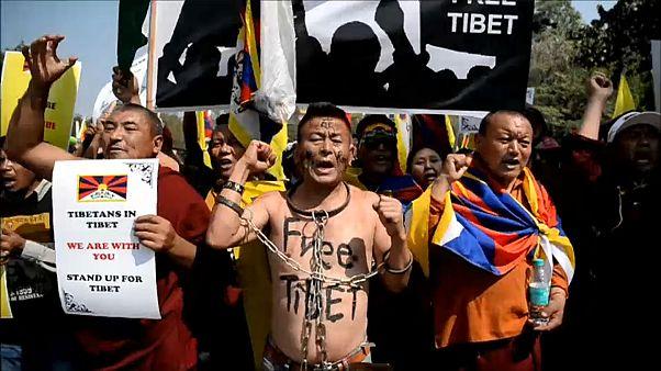 شاهد: مؤيدو التبت يحتشدون في الهند بمناسبة مرور 60 عاما على انتفاضتهم
