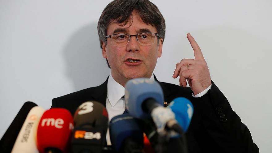 Carles Puigdemont in Berlin, Germany, February 12, 2019.