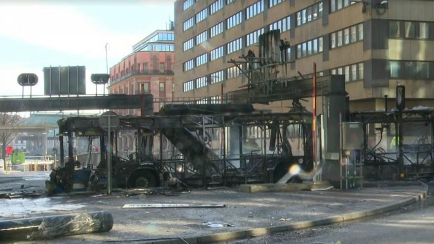 Bus explodes in central Stockholm, injuring driver
