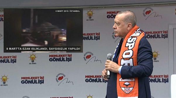أردوغان يتهم مسيرة نسوية بالإساءة للإسلام