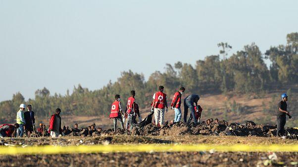 Evacuation des corps sur la site du crash, 10 mars 2019