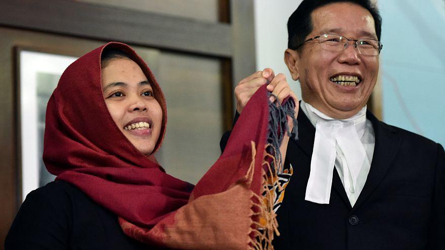 Ελεύθερη η κατηγορούμενη για την δολοφονία Κιμ Γιονγκ Ναμ