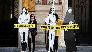 مظاهرة لأمنيستي أنترناشيونال أمام سفارة السعودية في باريس