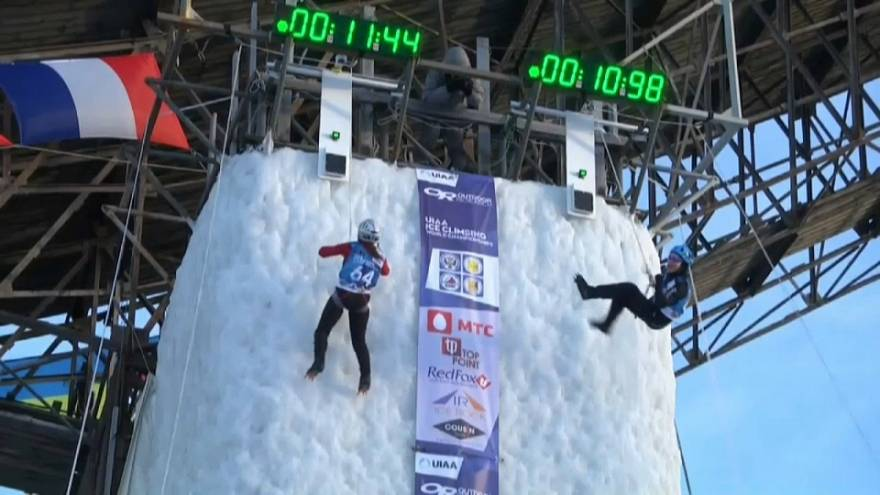 Russia triumphs at Ice Climbing World Championships
