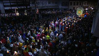 شاهد: إنطلاق مهرجان بازل تحت الفوانيس
