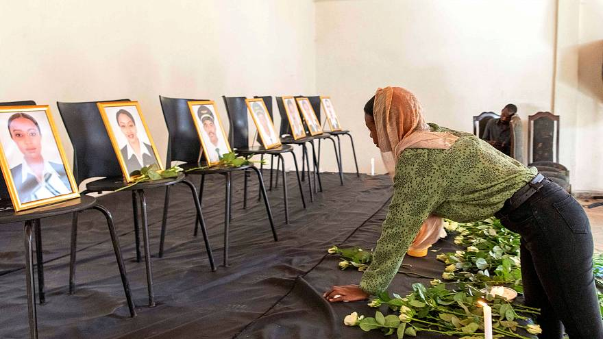 A memorial service to honour the Ethiopian Airlines crew on March 11, 2019.