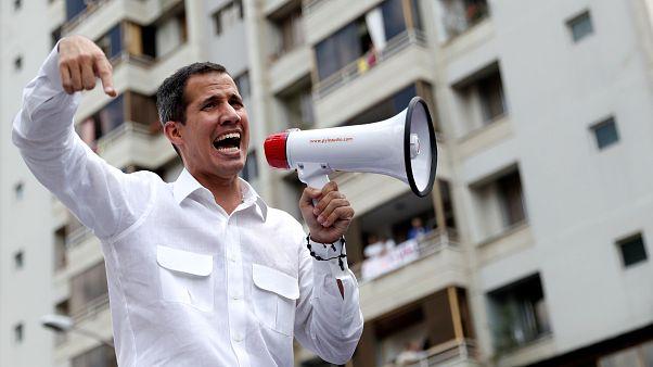 Juan Guaidó en una manifestación en Caracas, Venezuela. 9 de marzo de 2019.