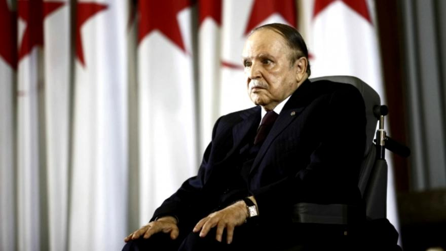 Algeria's Bouteflika says he will not run for fifth term, postpones presidential elections