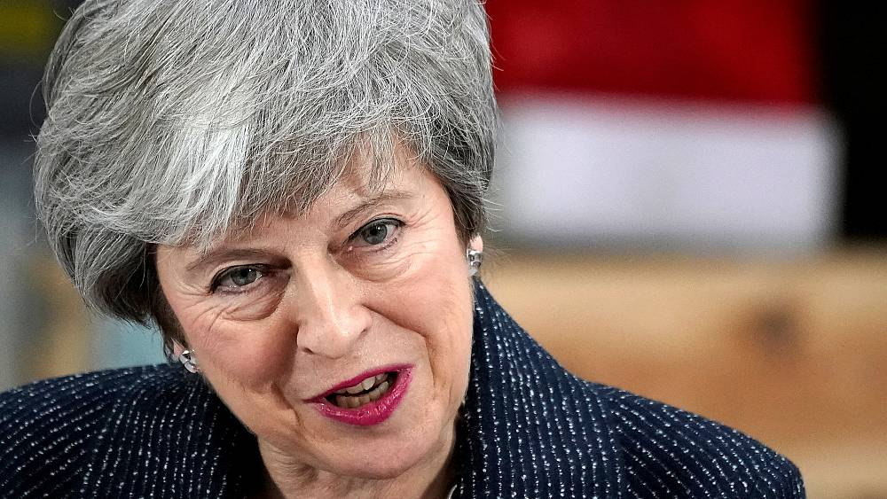 theresa may rushes to strasbourg to find a deal as brexit crunch looms euronews. Black Bedroom Furniture Sets. Home Design Ideas