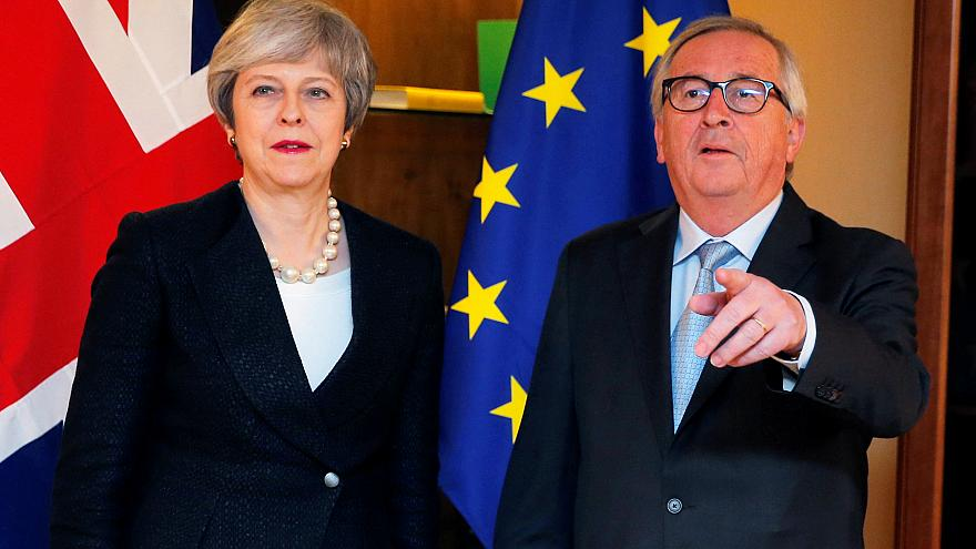 Theresa May and Jean-Claude Juncker on March 11, 2019.