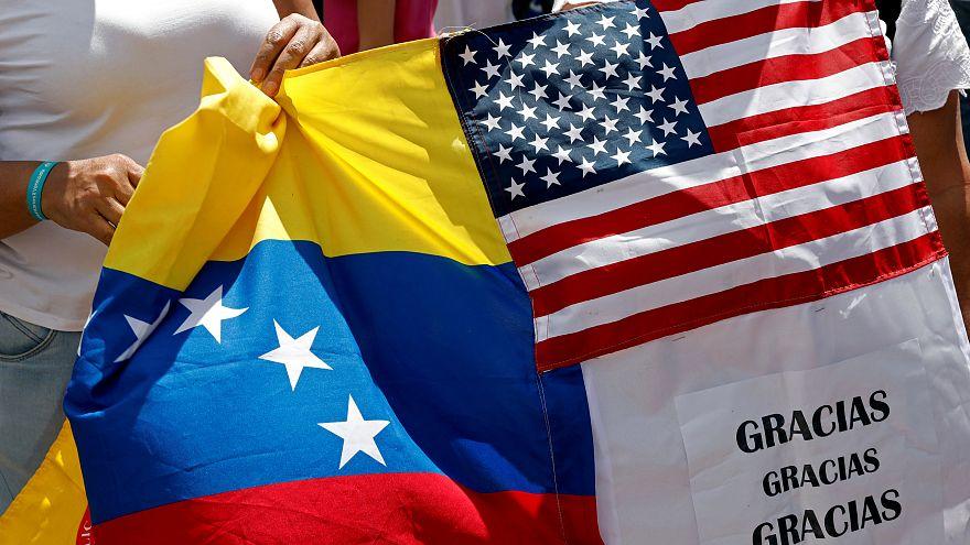 Supporters of the Venezuelan opposition leader Juan Guaido