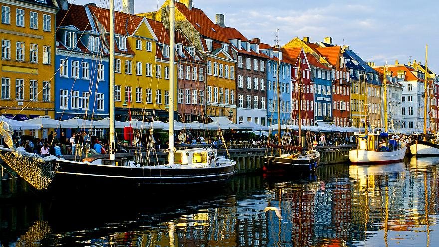 The waterfront in the Nyhavn area of Copenhapen