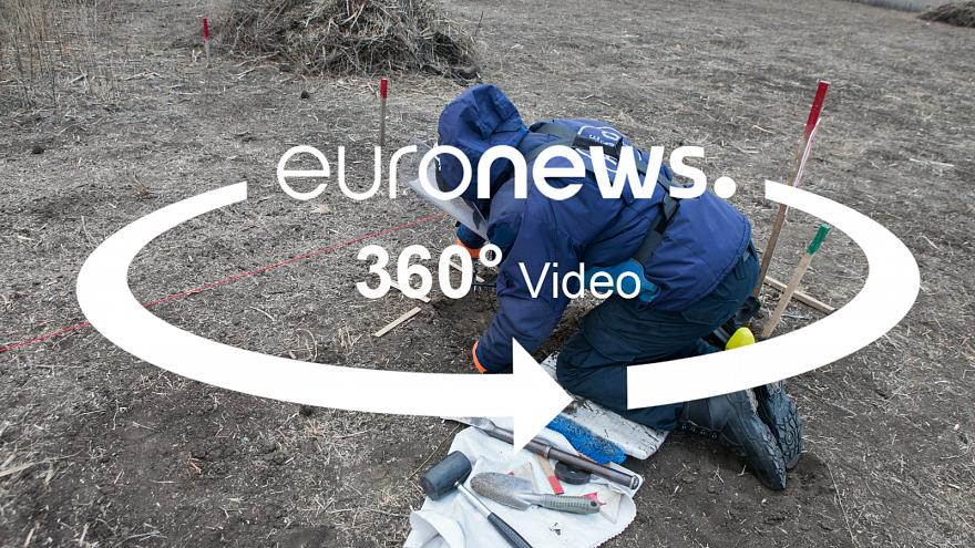 Interactive story: See how Ukrainians remove dangerous landmines by hand