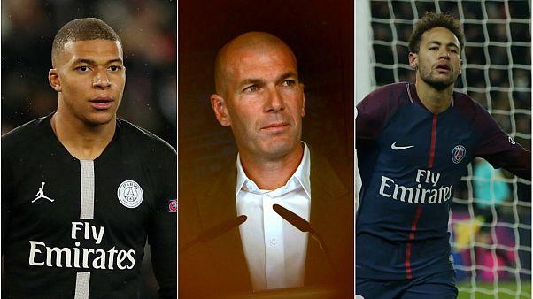 Real Madrid Zidane'ın ardından Mbappe ve Neymar'ı da istiyor