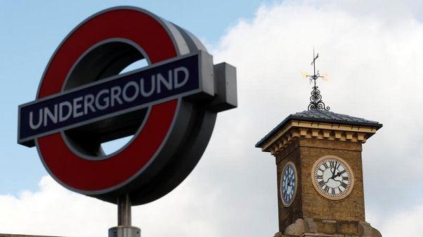 Underground tube sign near London King's Cross station