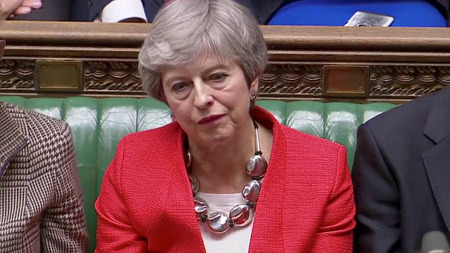 British Prime Minister Theresa May on March 8, 2019.
